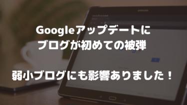 Googleアップデートにブログが初めての被弾 弱小ブログにも影響ありました!